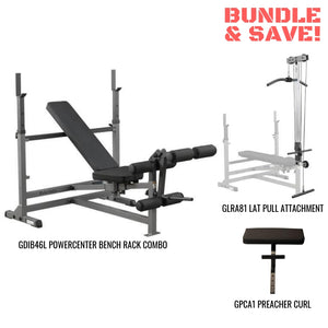 Body-Solid PowerCenter Combo Bench Lat Package GDIB46LP4