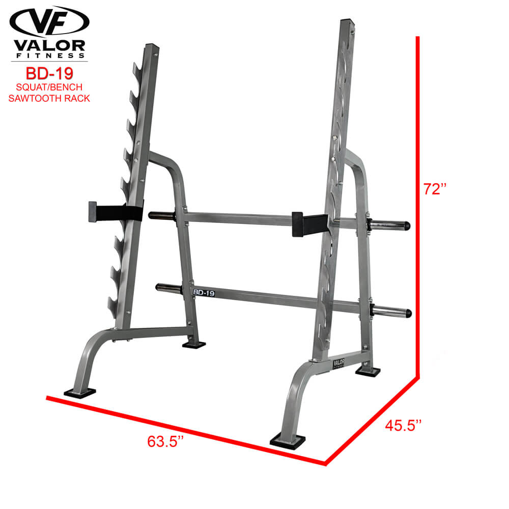 Valor Fitness Sawtooth Squat/Bench Rack BD-19