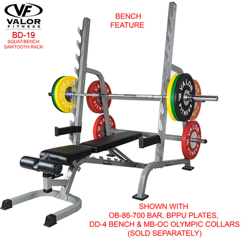 Image of Valor Fitness Sawtooth Squat/Bench Rack BD-19