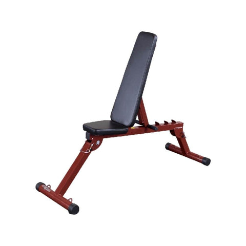 Best Fitness BFFID10 Folding Flat Incline Decline (FID) Bench Front Side View Incline