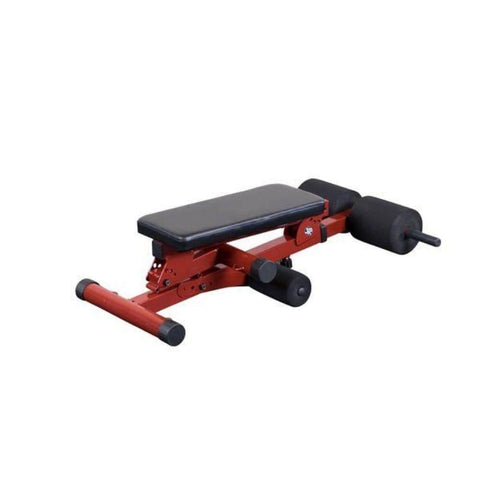 Image of Best Fitness BFHYP10 Ab Hyperextension Bench Folded