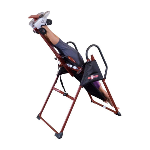 Best Fitness BFINVER10 Inversion Table Back Side View Inverted
