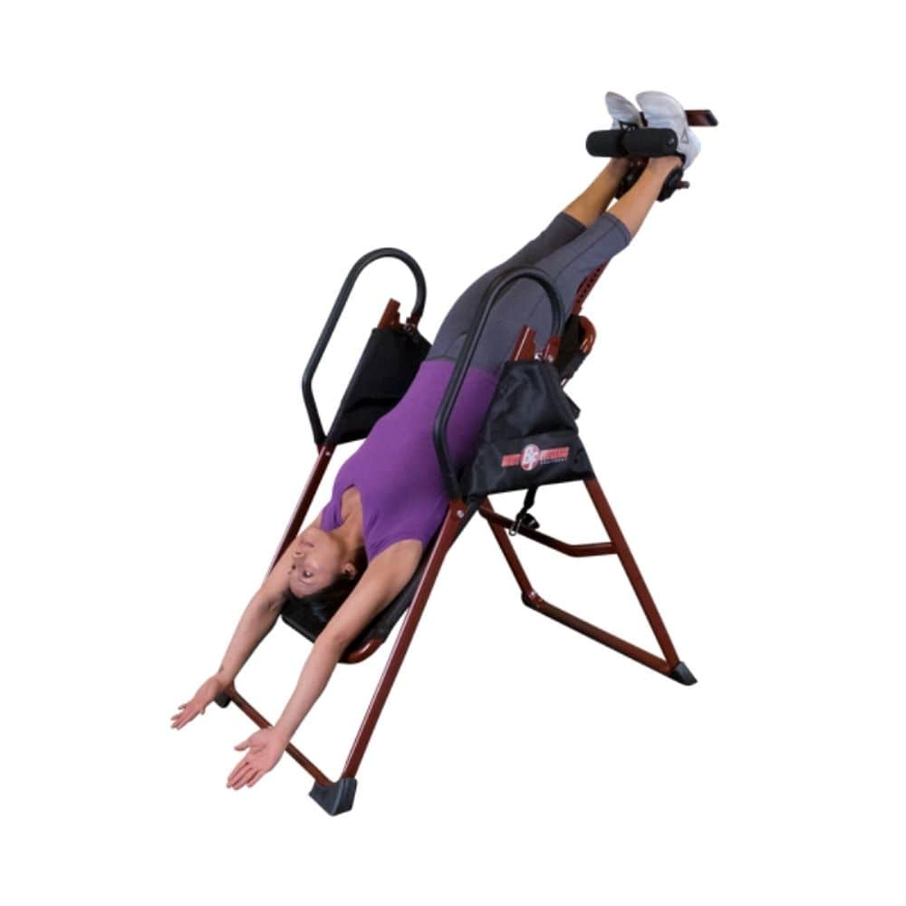 Best Fitness BFINVER10 Inversion Table Front Side View Inverted