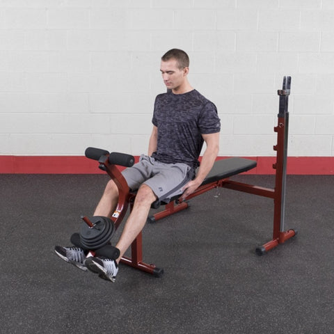 Best Fitness BFOB10 Folding Olympic Bench with Leg Developer Leg Extension