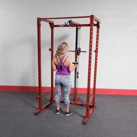 Image of Best Fitness BFPR100 Power Rack Lat Pull Bicep