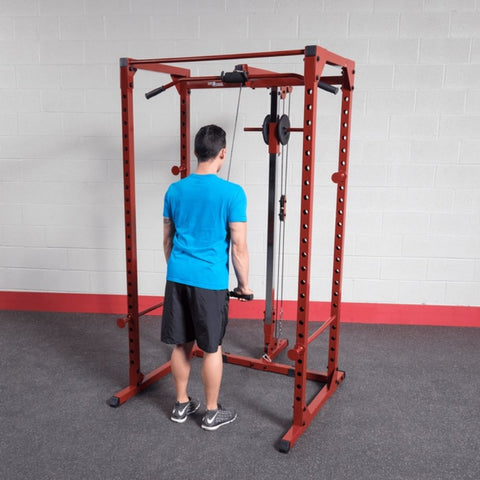 Image of Best Fitness BFPR100 Power Rack Lat Pull Tricep