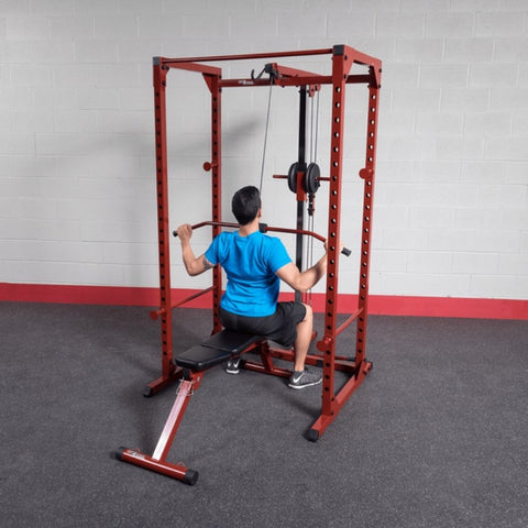 Best Fitness BFPR100 Power Rack Lat Pull