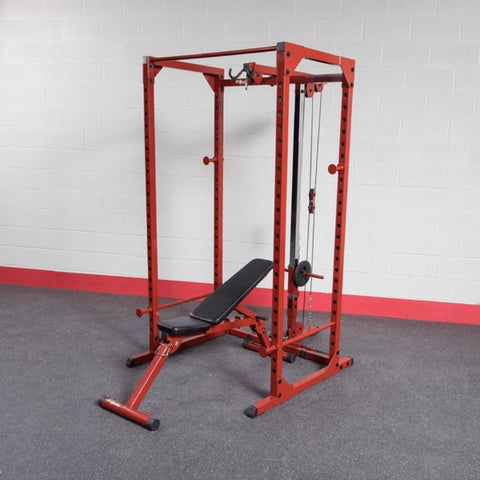 Image of Best Fitness BFPR100 Power Rack With Lat