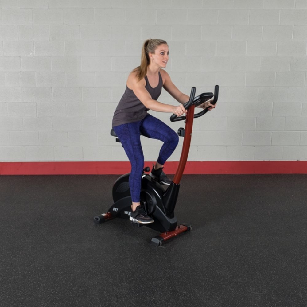 Best Fitness BFUB1 Upright Bike 3D View Sitting