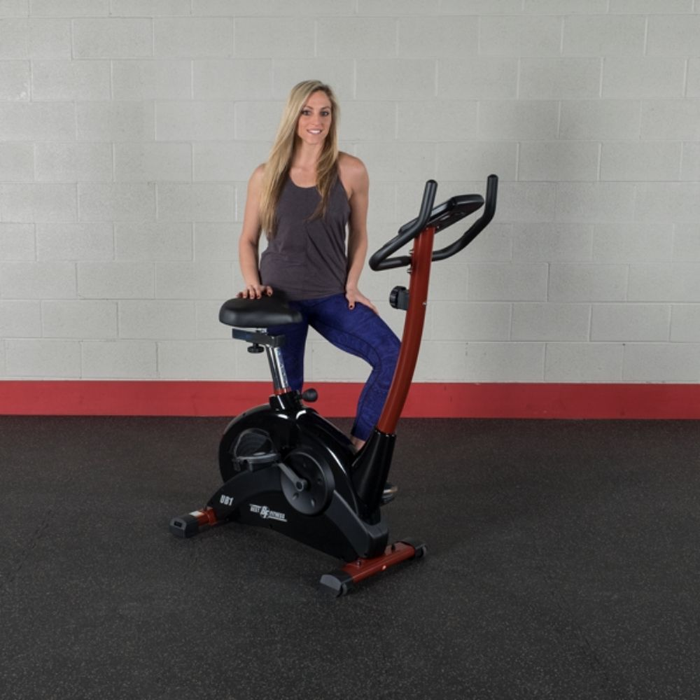 Best Fitness BFUB1 Upright Bike Front Side View