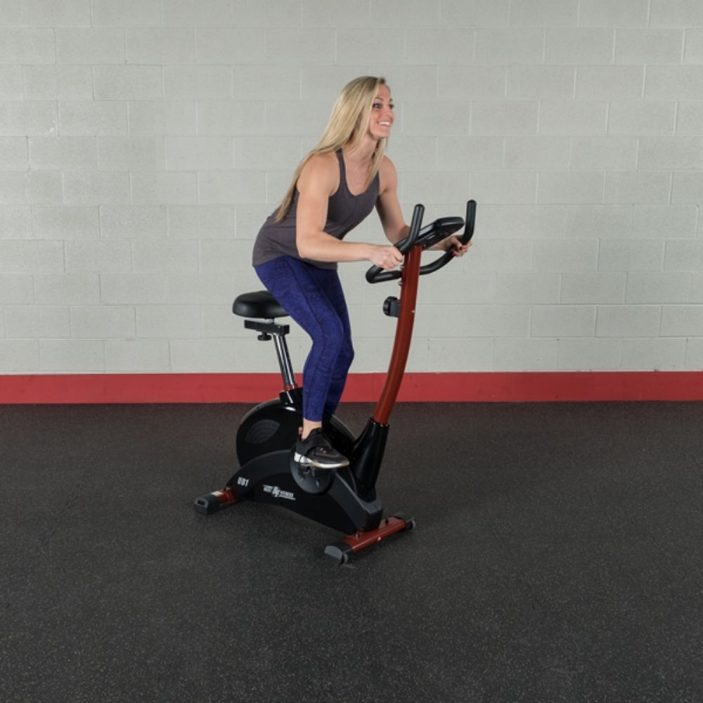 Best Fitness BFUB1 Upright Bike Standing On Bike