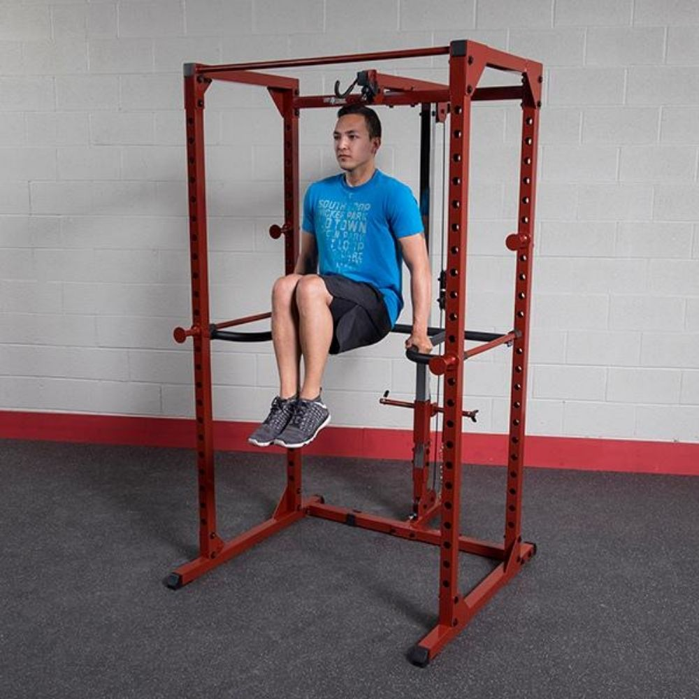 Body-Solid DR100 Power Rack Dip Attachment BFPR100 Knee Raise