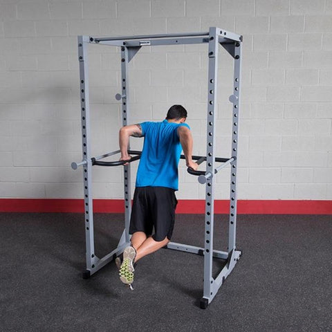 Image of Body-Solid DR100 Power Rack Dip Attachment PPR200 Dips