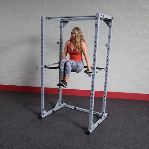 Image of Body-Solid DR100 Power Rack Dip Attachment PPR200 Knee Raise