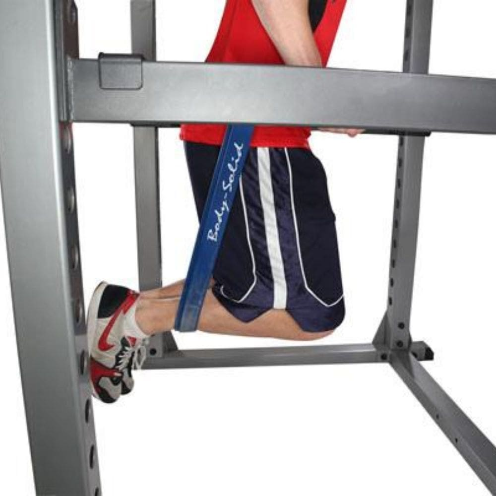 Body-Solid DR378 Dip Bar Attachment for GPR378 Power Rack Assisted Dip Side View