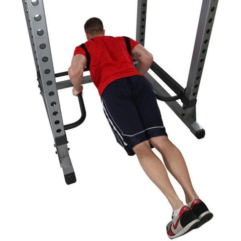 Image of Body-Solid DR378 Dip Bar Attachment for GPR378 Power Rack Push Ups