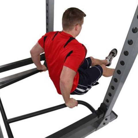 Image of Body-Solid DR378 Dip Bar Attachment for GPR378 Power Rack Tricep Dip
