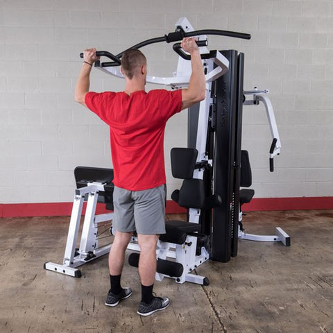 Image of Body-Solid EXM3000LPS Selectorized Multi-Stack Home Gym Shoulder Press