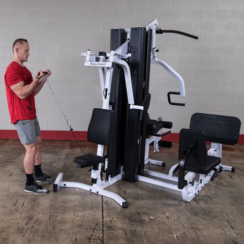 Image of Body-Solid EXM3000LPS Selectorized Multi-Stack Home Gym Standing Curl