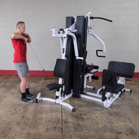 Image of Body-Solid EXM3000LPS Selectorized Multi-Stack Home Gym Upright Row