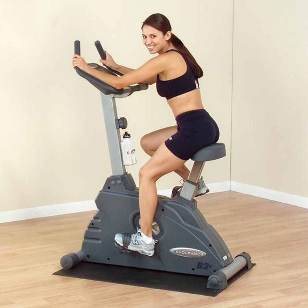 Body-Solid Endurance B2U Upright Stationary Exercise Bike Back Side View