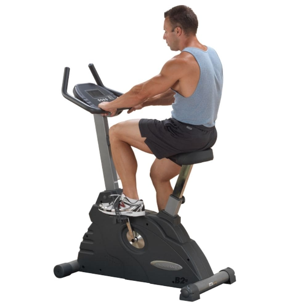 Body-Solid Endurance B2U Upright Stationary Exercise Bike Top Back Side View