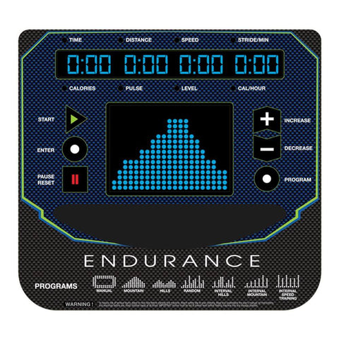 Body-Solid Endurance E400 Center Drive Elliptical Display