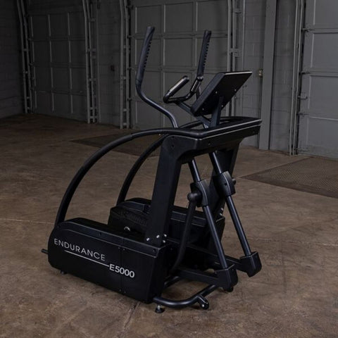 Body-Solid Endurance E5000 Center Drive Elliptical Top Front Side View