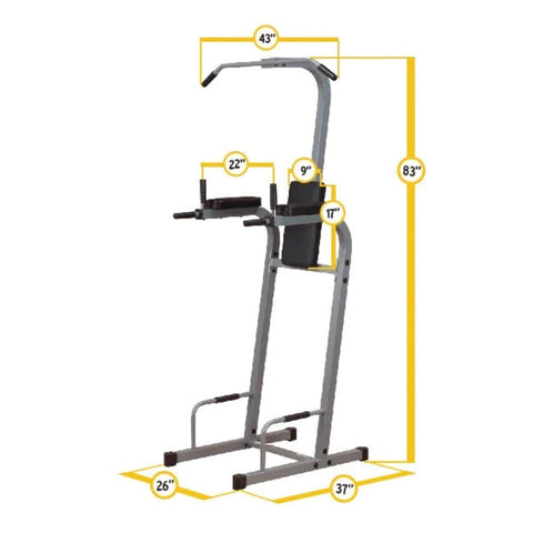 Image of Body-Solid FCD Fusion VKR Dip Pull Up Station Dimensions