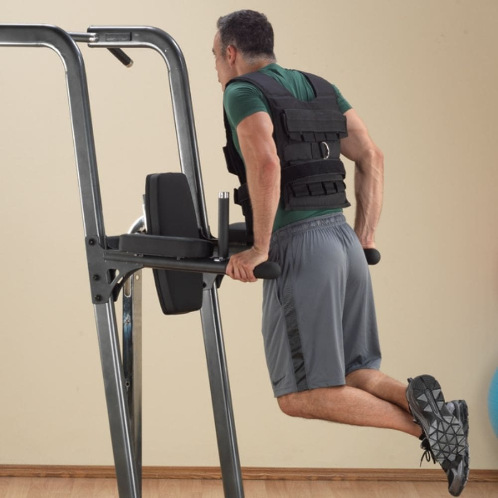 Body-Solid FCD Fusion VKR Dip Pull Up Station Dips