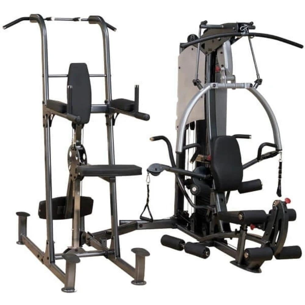 Body-Solid FCDWA Fusion Weight-Assisted Dip & Pull-Up Station 3D View
