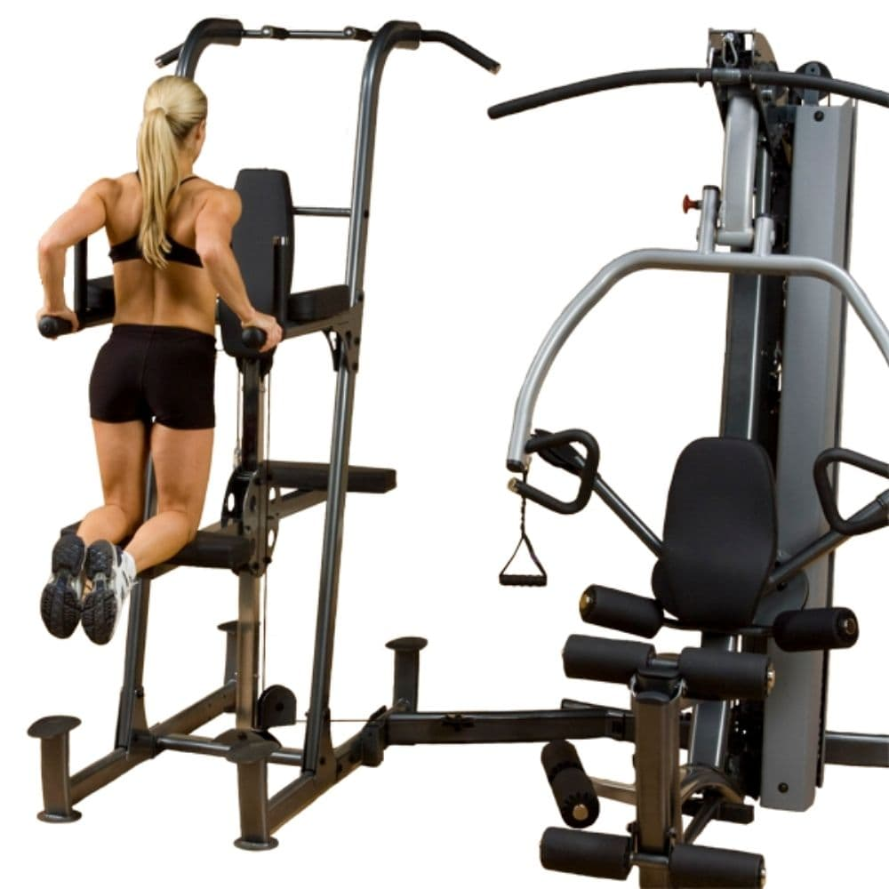 Body-Solid FCDWA Fusion Weight-Assisted Dip & Pull-Up Station Dip Clipped