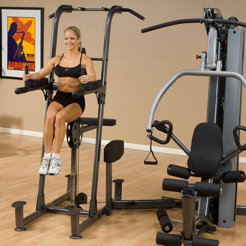 Body-Solid FCDWA Fusion Weight-Assisted Dip & Pull-Up Station Leg lift