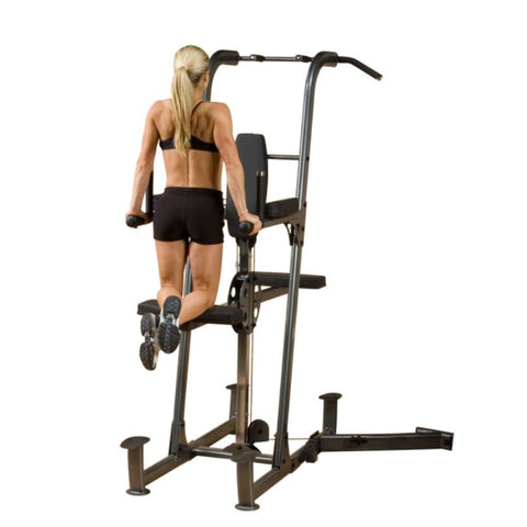 Image of Body-Solid FCDWA Fusion Weight-Assisted Dip & Pull-Up Station Rear View