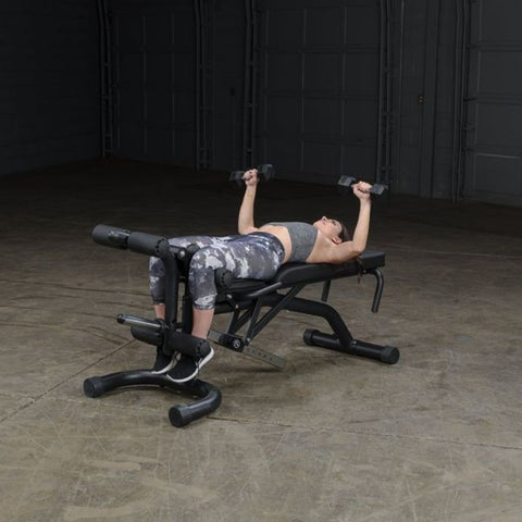 Body-Solid FID46 Olympic Leverage Exercise Bench with Leg Developer Exercise Figure 4