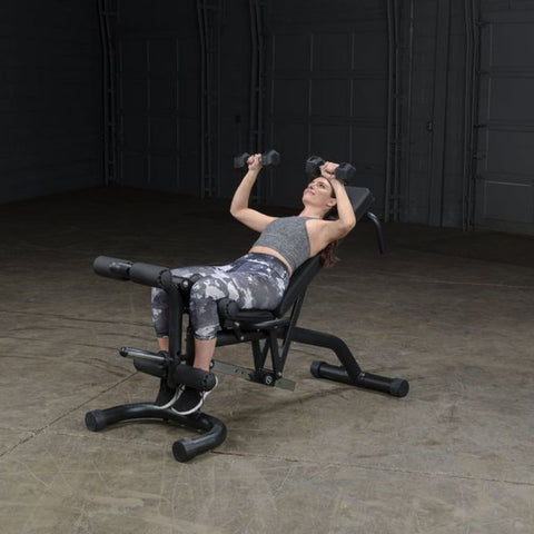 Image of Body-Solid FID46 Olympic Leverage Exercise Bench with Leg Developer Exercise Figure 5