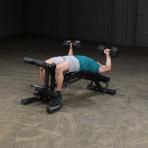 Image of Body-Solid FID46 Olympic Leverage Exercise Bench with Leg Developer Exercise Figure 6