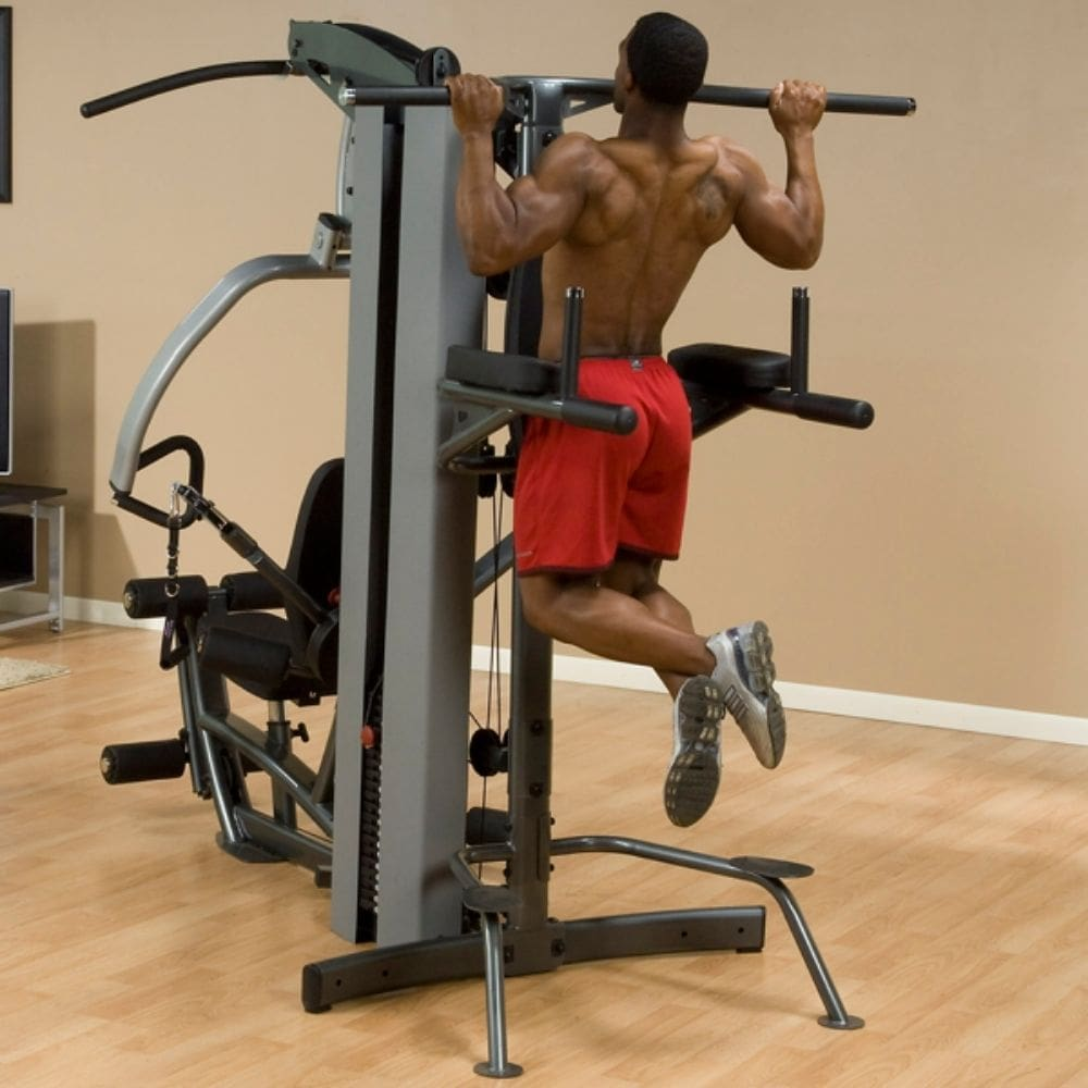Body-Solid FPU Fusion Pull Up Bar Attachment 3D View On Machine