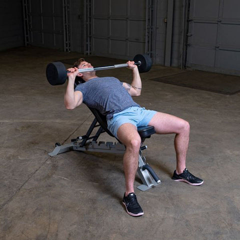 Body-Solid Fixed Barbell Flat Press