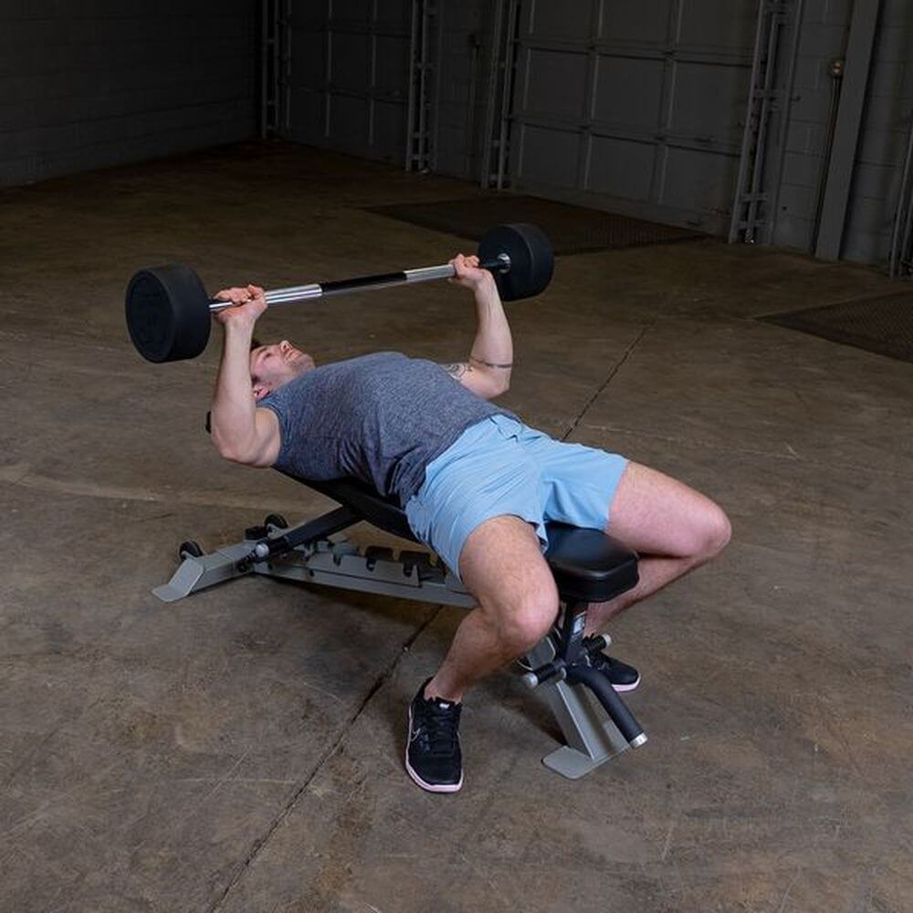 Body-Solid Fixed Barbell Sets Decline Press