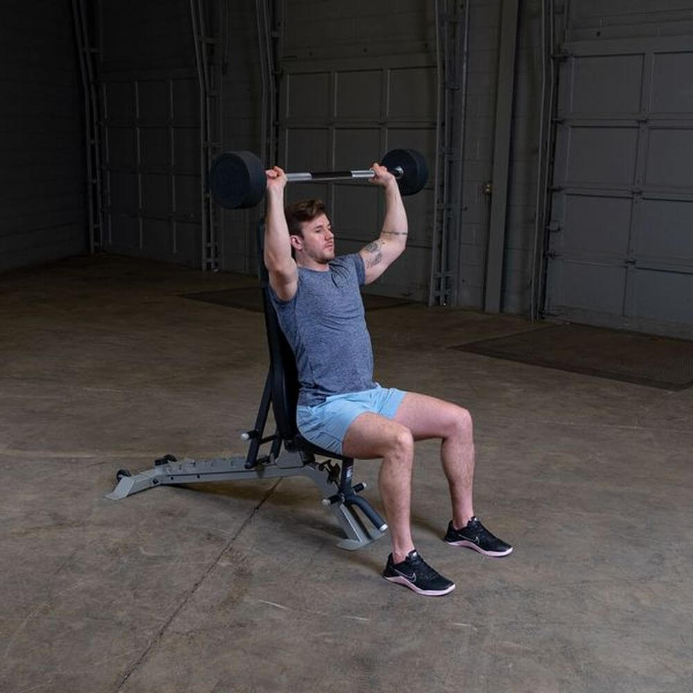 Body-Solid Fixed Barbell Sets Shoulder Press