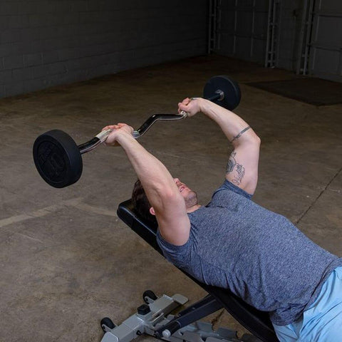 Image of Body-Solid Fixed Curl Bar Sets Dead Lift Press