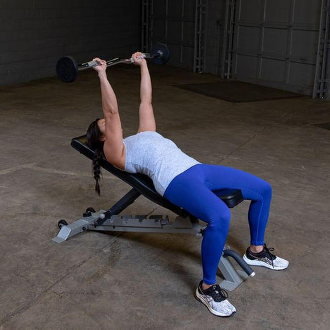 Image of Body-Solid Fixed Curl Bar Sets Incline Press