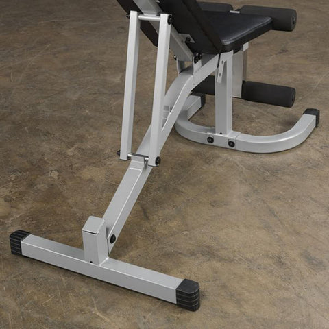 Image of Body-Solid Flat Incline Decline Bench PFID130X Back View Close Up