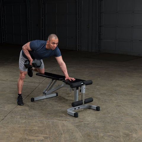 Image of Body-Solid Flat Incline Decline Bench PFID130X Exercise Prone