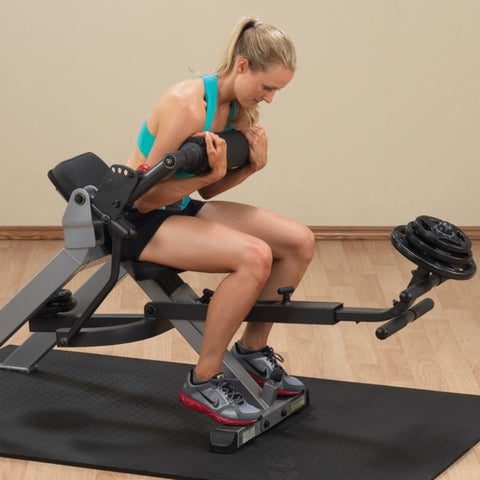 Image of Body-Solid GAB350 Semi-Recumbent Dual Ab Bench Crunch Close Up With BG