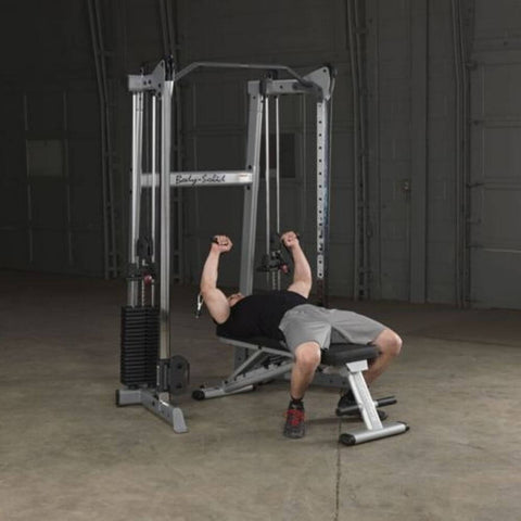 Image of Body-Solid GDCC210 Compact Functional Training Center Flat Press