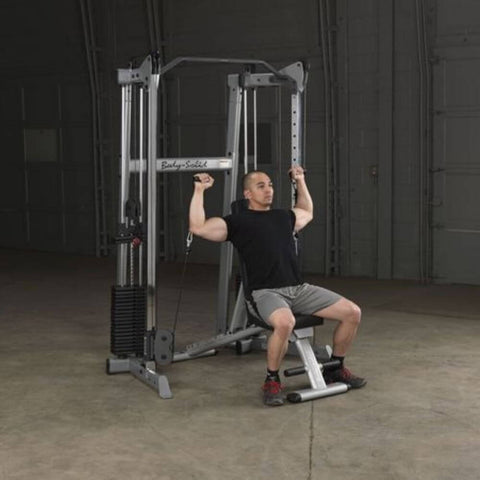 Image of Body-Solid GDCC210 Compact Functional Training Center Inclined Bench Shoulder Press