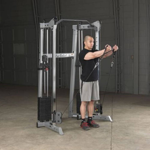 Body-Solid GDCC210 Compact Functional Training Center Low Pull Standing