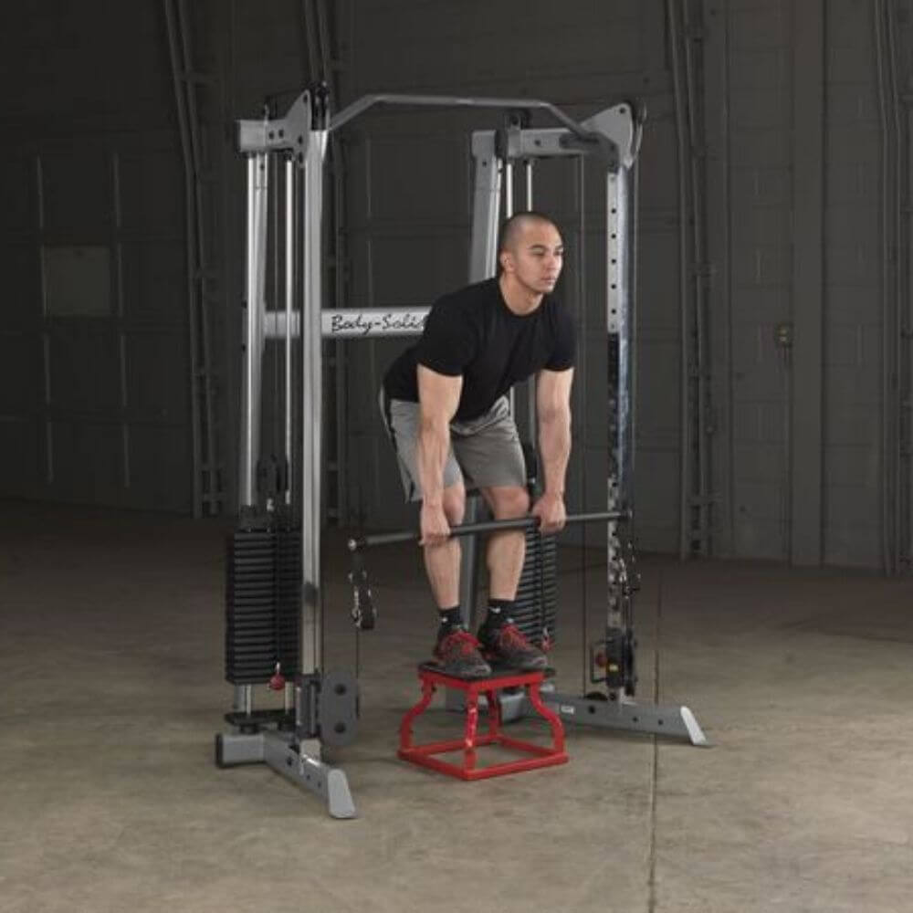 Body-Solid GDCC210 Compact Functional Training Center Squat with Stool